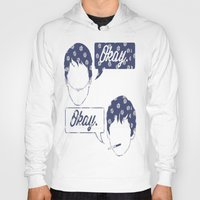 tfios Hoodies featuring OKAY?OKAY THE FAULT IN OUR STARS TFIOS HAZEL AUGUSTUS CLOUDS SPEECH BUBBLES by monalisacried