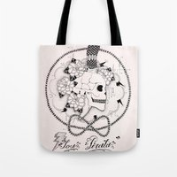 pirate Tote Bags featuring Pirate by Thrashin