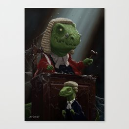 Dinosaur Judge in UK Court of Law Canvas Print