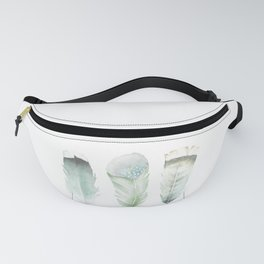 Green Feathers Fanny Pack