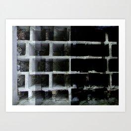Abandoned wall xperiment xposure Art Print
