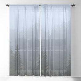 Vote For Trees Sheer Curtain