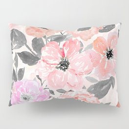 Elegant simple watercolor floral Pillow Sham