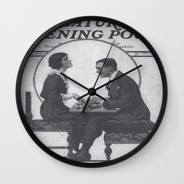 The Saturday Evening Post vintage cover - ft Fitzgerald Wall Clock