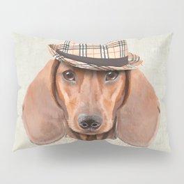 The stylish Mr Dachshund Pillow Sham