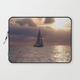 Yacht At Dusk Laptop Sleeve