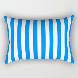 Vertical Stripes (Azure/White) Rectangular Pillow