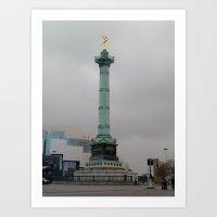 bastille Art Prints featuring Bastille by abbykaye