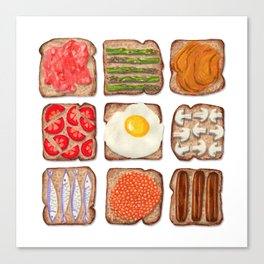 Breakfast Toast Canvas Print