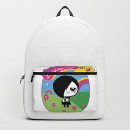 emo goes to cute land Backpack