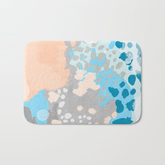Freya - Painted minimal bright summer palette boho abstract decor minimalist Bath Mat