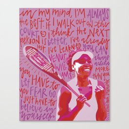 Venus Williams. Canvas Print