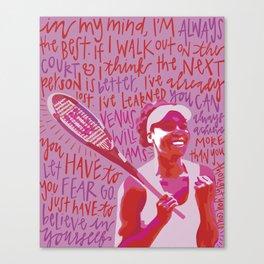 Venus Williams. Canvas Print