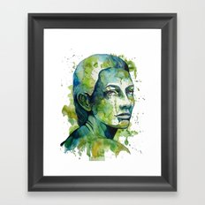 Paulina by carographic Framed Art Print