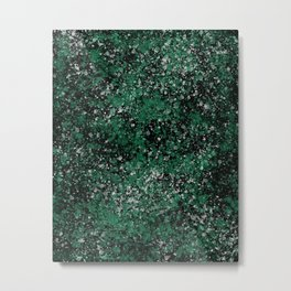 Abstract Emerald Green Forest Art Metal Print