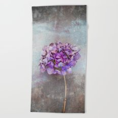 Beautiful Lilac Hydrangea Beach Towel