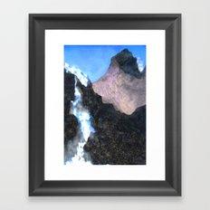 Canadian Mountain Scene Framed Art Print