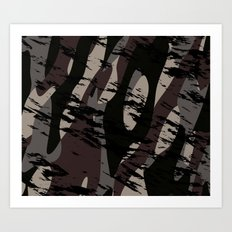 Deep Forest Camo Art Print