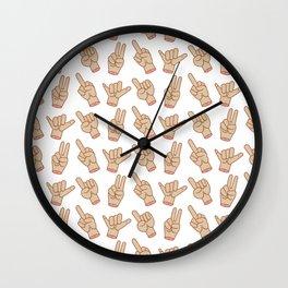Expressive Hands Wall Clock
