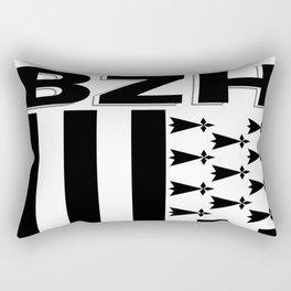 BZH Brittany / Bretagne Flag France Rectangular Pillow