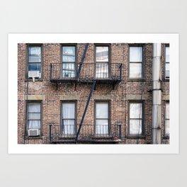 New York Fire Escape Art Print