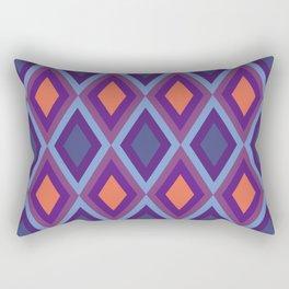 Purple And Blue Shade Diamond Geometric Patterns Rectangular Pillow