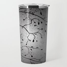 Dark Branch With Leaves Travel Mug