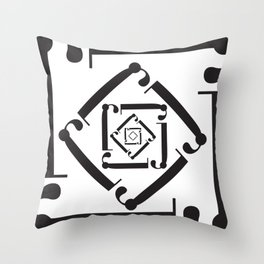 "Dizzy - The Didot ""j"" Project Throw Pillow"