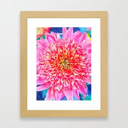 Pink Watercolor Flower Framed Art Print