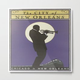 Vintage poster - City of New Orleans Metal Print