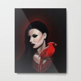 Dame Kardinal trois Metal Print