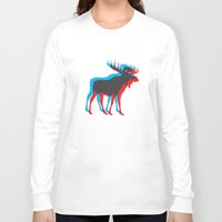 moose Long Sleeve T-shirts featuring Moose by BMaw