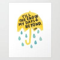 "himym Art Prints featuring HIMYM - ""End of My Days"" by Ang Shuang"