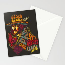 Psychedelic Jason Momoa - Bold as Love Stationery Cards