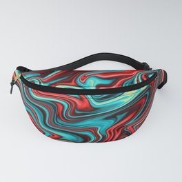 Red Turquoise Fanny Pack
