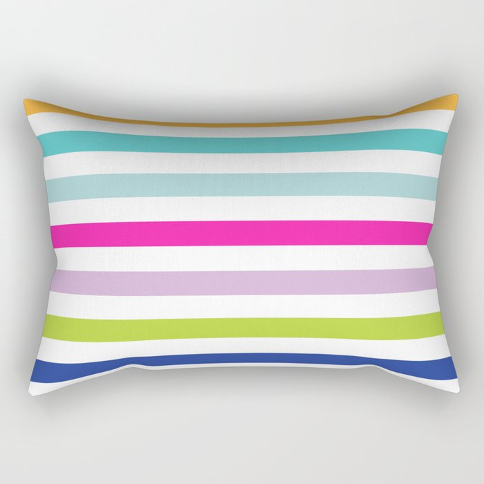 Big Bright Stripes Rectangular Pillow