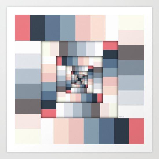 Geometric Layers of Color Art Print