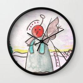 """#cagsticks """"An angel mocking a snowman"""" Wall Clock"""