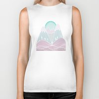 the mountains are calling Biker Tanks featuring The Mountains are Calling No. 2 by CreativelyHappy