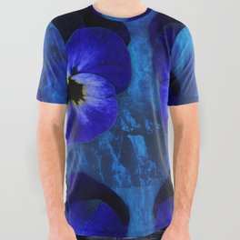 Deep Blue Velvet All Over Graphic Tee