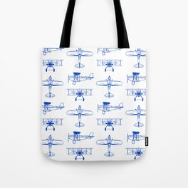 Blue Biplanes Tote Bag