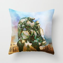 Beauty and the Thirty Ton Beast Throw Pillow