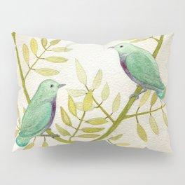Celadon Birds Pillow Sham