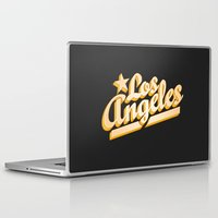 los angeles Laptop & iPad Skins featuring Los Angeles by GetSolidGold