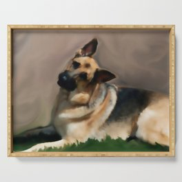 Curious Shepherd Serving Tray