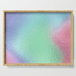 Simply Metallic in Holographic Rainbow Serving Tray