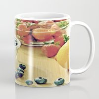 fruits Mugs featuring Fruits by Nieves Montano