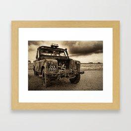 Abandoned Landrover at Dungeness Framed Art Print