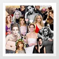 jennifer lawrence Art Prints featuring Jennifer Lawrence by lastminutebinge
