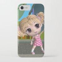 chibi iPhone & iPod Cases featuring Chibi Girl by ChibiGirl